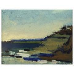 Nils Ingvar Walterström '1920-1988', Sweden, Oil on Canvas, Modernist Landscape