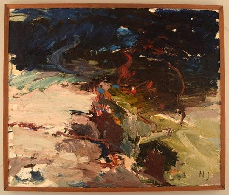 Nils Johansson. Swedish artist. Oil on canvas.