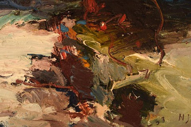 Modern Nils Johansson, Swedish Artist, Oil on Canvas,