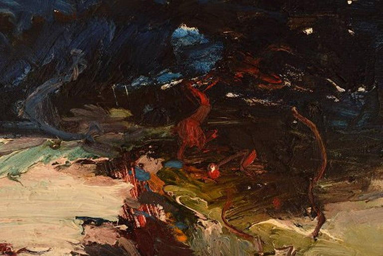 Nils Johansson, Swedish Artist, Oil on Canvas,