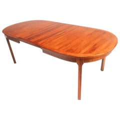 Nils Jonsson for Troeds Mid Century Rosewood Extending Dining Table