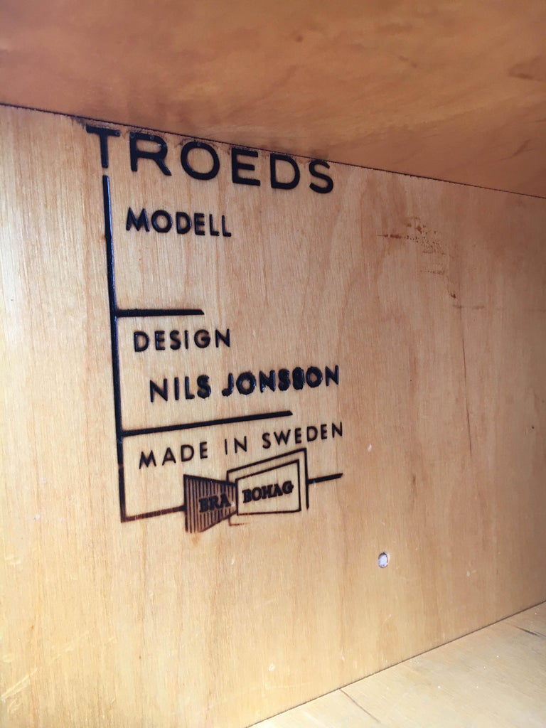 Mid-20th Century Nils Jonsson Sideboard Model Cannes, Troeds Sweden, 1960s For Sale