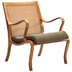 """Nils Rooth """"Vienna"""" Beech Chair for Swedese Möbler AP, Sweden, 1975"""