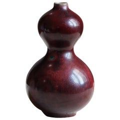 Nils Thorson, Small Vase, Red Glazed Stoneware, Royal Copenhagen, 1950s