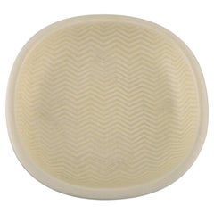 "Nils Thorsson for Aluminia, ""Marselis"" Faience Bowl with Geometric Pattern"