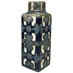 Nils Thorsson for Royal Copenhagen 1960 Ceramic Blue Grey Glazed Baca Vase #3258