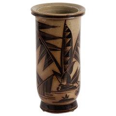 Nils Thorsson for Royal Copenhagen, Cylindrical Vase, Denmark, circa 1930s