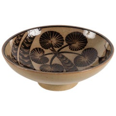 Nils Thorsson for Royal Copenhagen, Footed Bowl, Denmark, circa 1930s