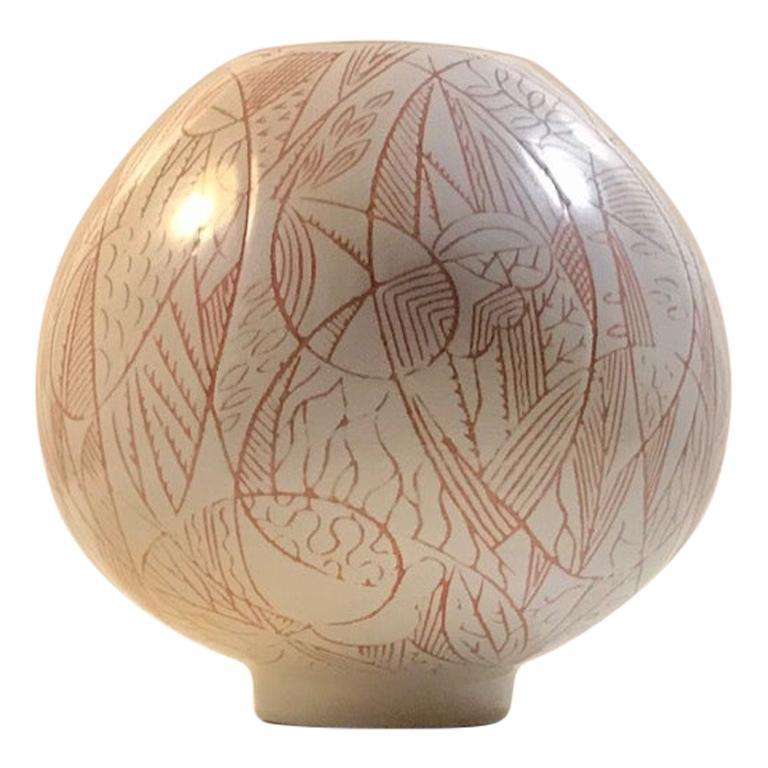Nils Thorsson Ovoid Ceramic Vase for Royal Copenhagen, 1950s