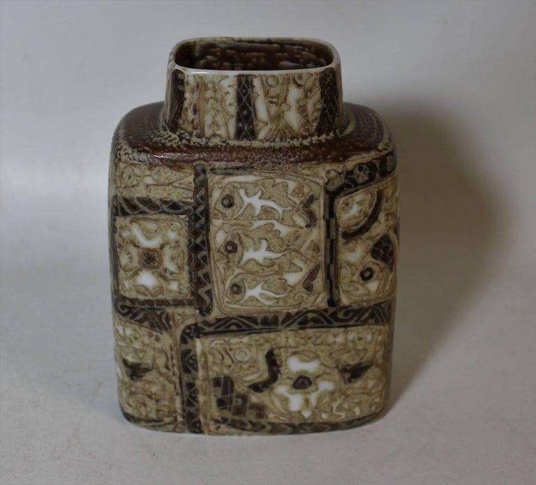 Nils Thorsson Pottery Vase For Royal Copenhagen Baca Fajance Series