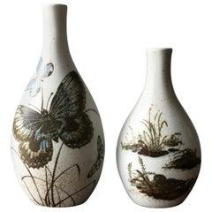 Nils Thorsson skandinavische Keramik-Vasen für Royal Copenhagen, 1960er Jahre