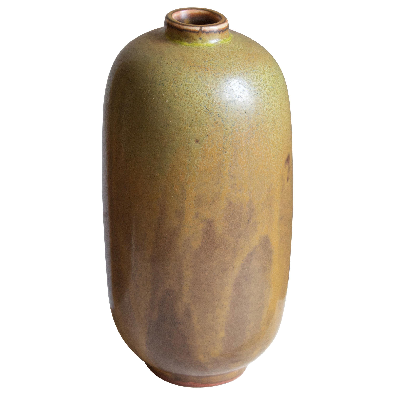 Nils Thorsson, Vase, Glazed Stoneware, Royal Copenhagen, 1950s