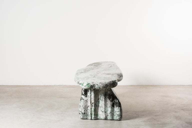 Modern Nilufar Gallery Guise 1 Scagliola Coffee Table by Odd Matter For Sale