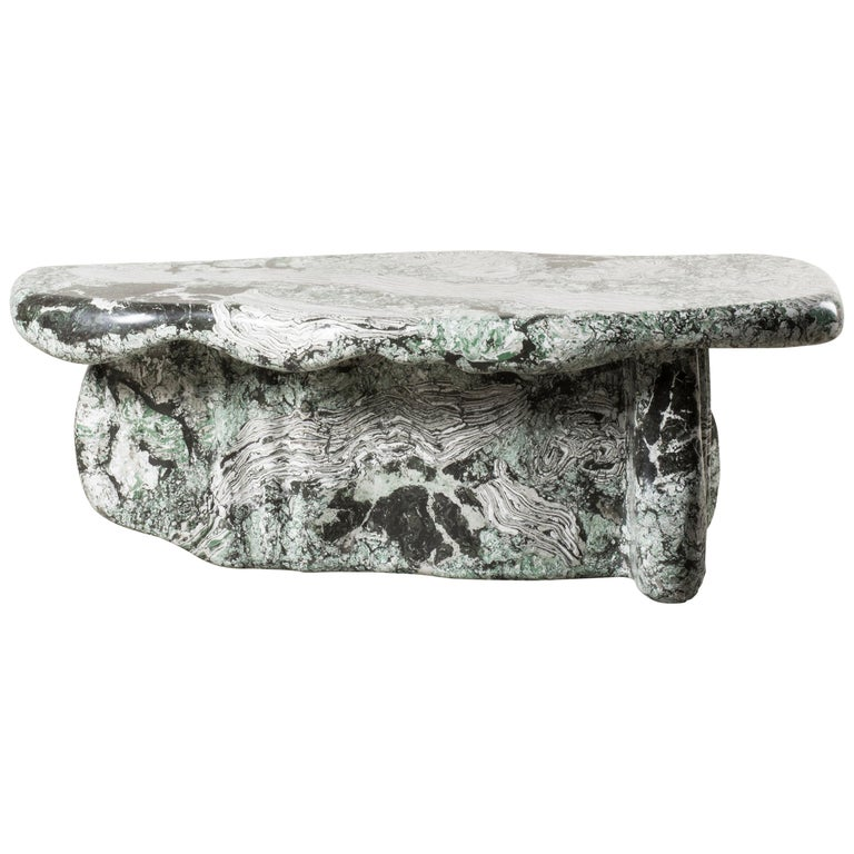 Nilufar Gallery Guise 1 Scagliola Coffee Table by Odd Matter For Sale