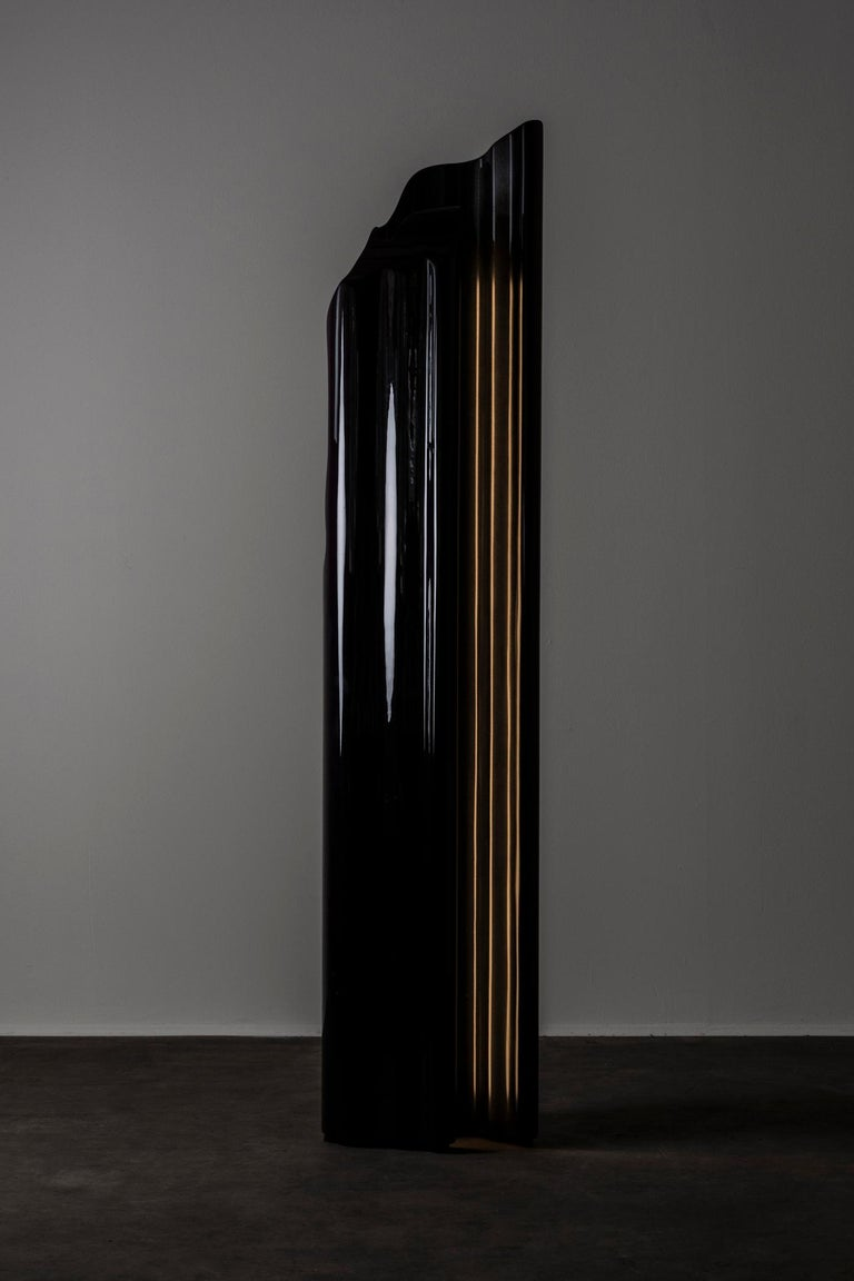 Guise floor lamp by Odd Matter, the Netherlands, 2019. Nilufar edition. Measures: 25 x 33 x H 161 cm, 9.8 x 13 x H 63.3 in. Guise explores the first encounter? Through the potential of spray painting. Surfaces protect what is below and allow us to