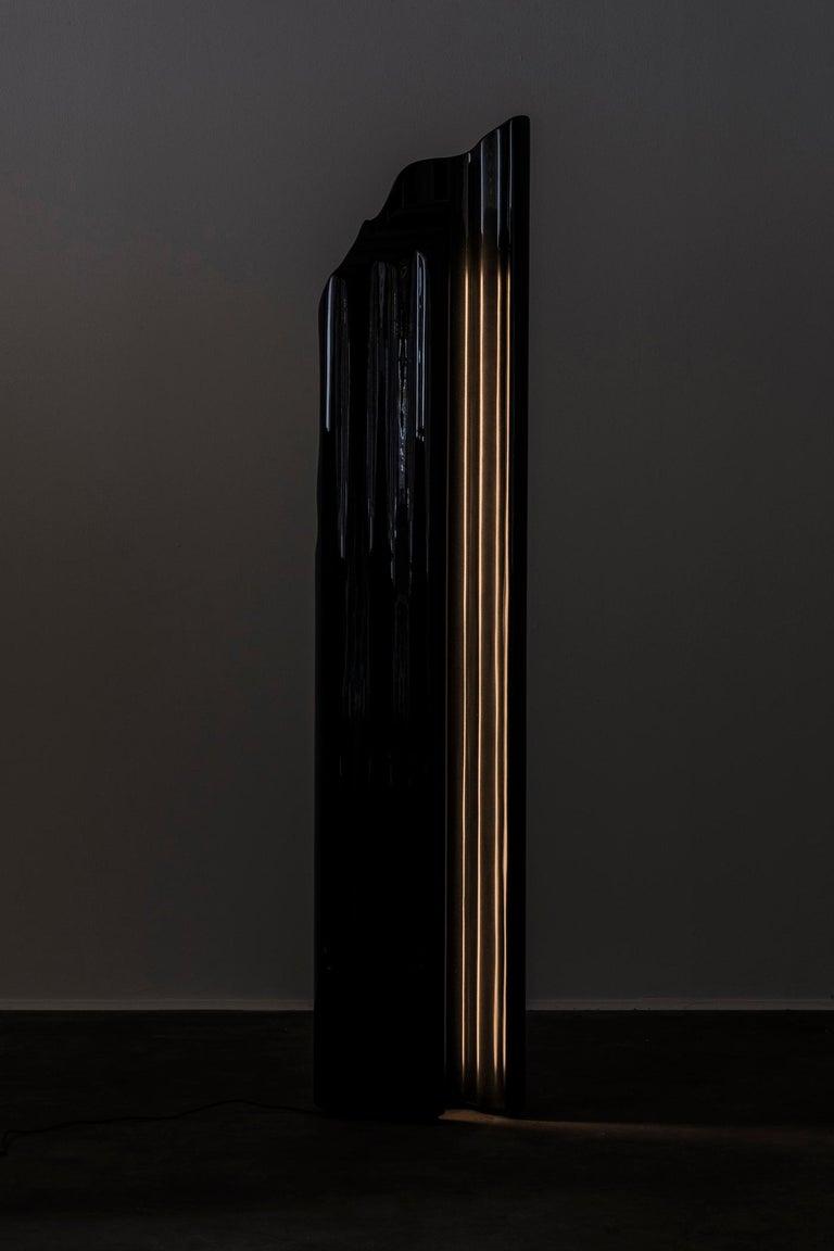 Modern Nilufar Gallery Guise Floor Lamp in Black by Odd Matter For Sale