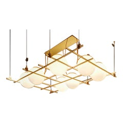Nilufar Gallery Shapes Collection Grid Ceiling Lamp by Federico Peri