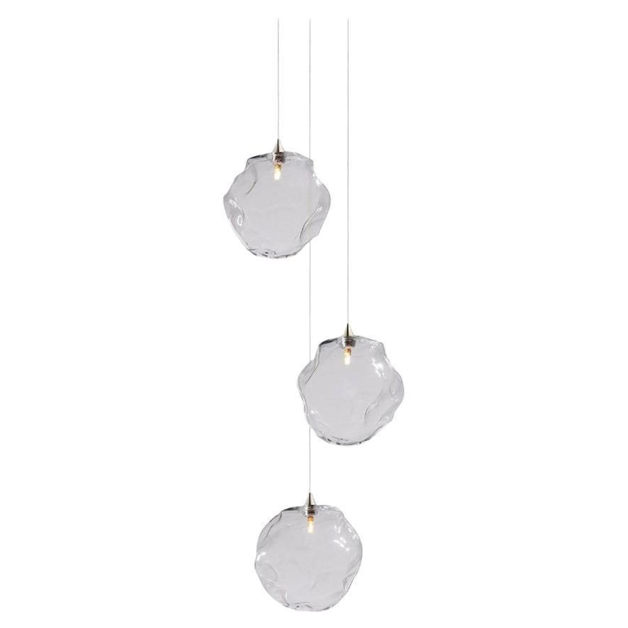 Nimbus 3, Blown Glass Pendant Bedside Chandelier by Shakuff
