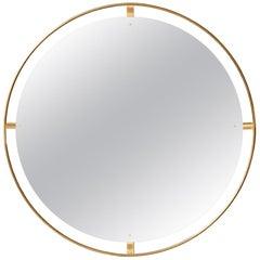 Nimbus Wall Mirror, Polished Brass