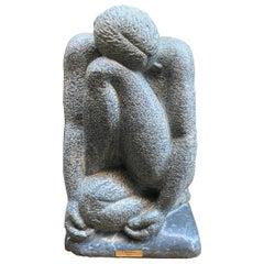 """Nina"" Bardiglio Marble Sculpture"