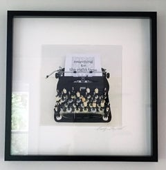 Searching for the Right Type Limited Edition print, typewriter, figures, text