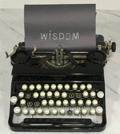 Pearls of Wisdom, Limited Edition photograph, typewriter, vintage, Framed