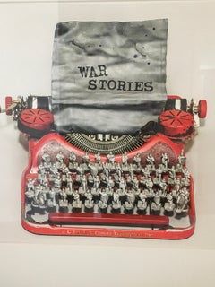 War Stories, Limited Edition photograph, typewriter, vintage, Soldiers, Framed