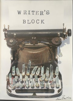 Writer's Block, Limited Edition photograph, typewriter, vintage, Framed