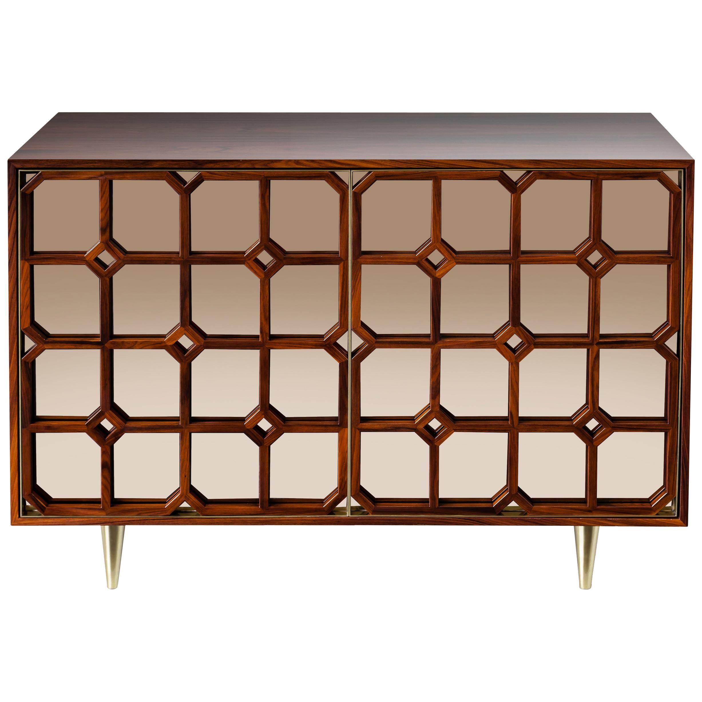 Nina Credenza Natural Wood Handmade Sophisticated Details 120
