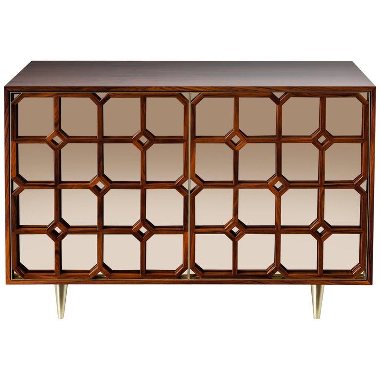 Nina Credenza Natural Wood Handmade Sophisticated Details 120 For Sale