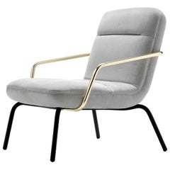 Nina Luxury White Armchair by Castello Lagravinese Studio