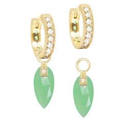 Nina Nguyen Chrysoprase 18 Karat Gold Earrings