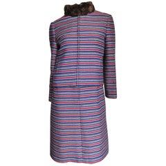 Nina Ricci 1960s Dress and Fur Trimmed Jacket