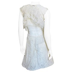 Nina Ricci Backless Lace Dress
