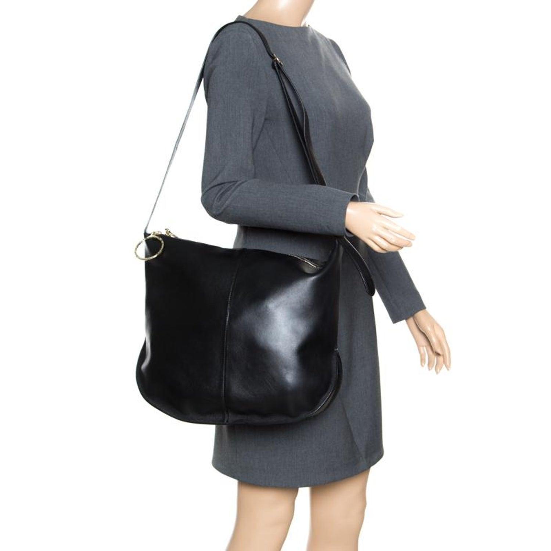 1c13d04bad Nina Ricci Black Leather Large Kuti Hobo For Sale at 1stdibs
