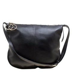 Nina Ricci Black Leather Large Kuti Hobo
