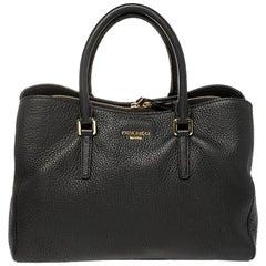 Nina Ricci Black Leather Zipped Tote