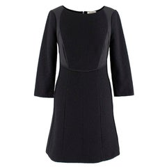 Nina Ricci Black Textured A-line Dress - Size US 4