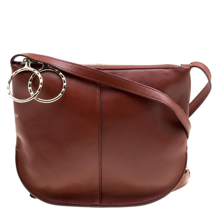 9c6af60a2b5c Nina Ricci Brown Leather Kuti Small Shoulder Bag For Sale at 1stdibs