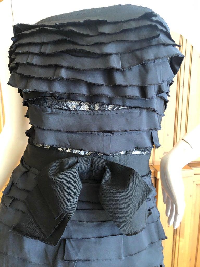 Purple Nina Ricci by Olivier Theyskens Important Black Silk Mermaid Evening Gown Sz 36 For Sale