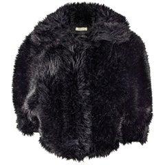 Nina Ricci Faux Fur Wool & Cashmere Jacket
