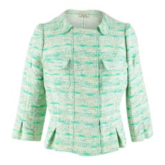 Nina Ricci Green Wool Tweed Jacket FR 40