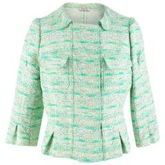 Nina Ricci Green Wool Tweed Jacket - Size US 8