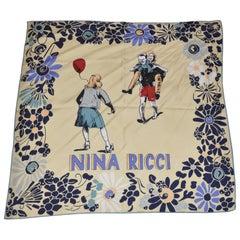 """Nina Ricci """"Happy Family"""" Silk Scarf"""