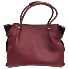 Nina Ricci Large Marche Red Leather Tote