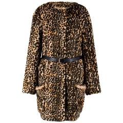 Nina Ricci Leopard-Print Faux-Fur Jacket US 0-2