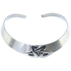 NINA RICCI Necklace Vintage 1990s Choker Sterling Silver