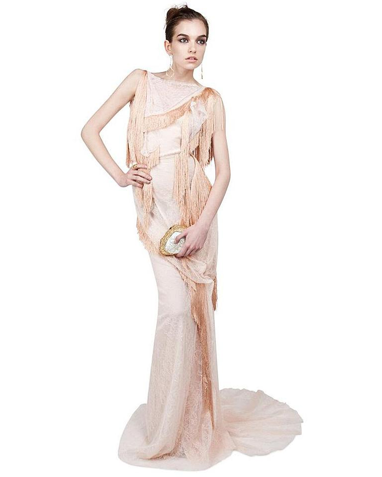 Nina Ricci Romantic Runway Delight Lace Confection Dress Gown For Sale 5