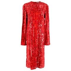 Nina Ricci Sequin Embellished Georgette Dress - Size US 10
