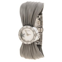 Nina Ricci Silver White Stainless Steel and Diamonds N021.12 Women's Wristwatch